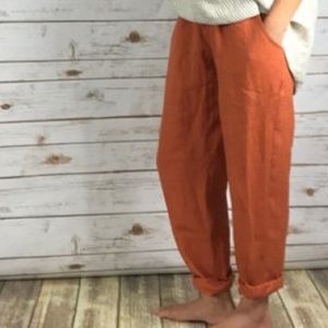 Flax linen pull on pants size s